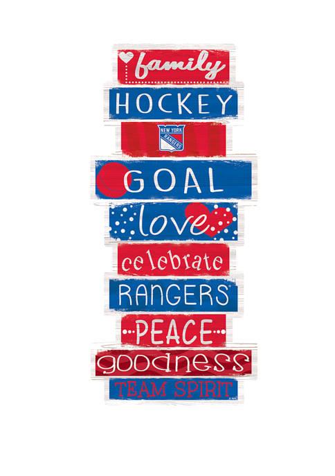 NHL New York Rangers 24 Inch Celebrations Stack Sign