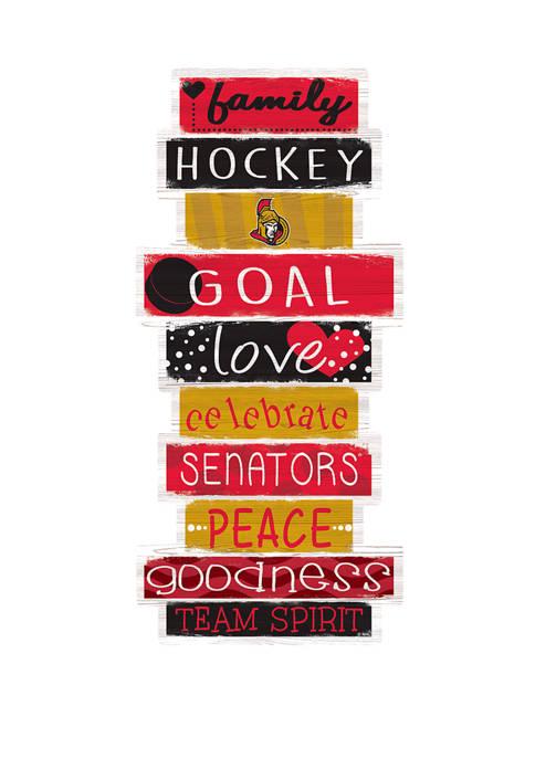 NHL Ottawa Senators 24 Inch Celebrations Stack Sign