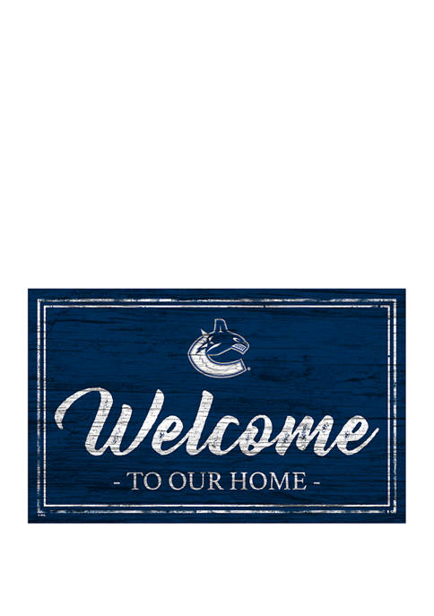 NHL Vancouver Canucks 11 in x 19 in Team Color Welcome Sign