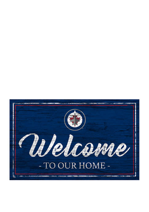 NHL Winnipeg Jets 11 in x 19 in Team Color Welcome Sign