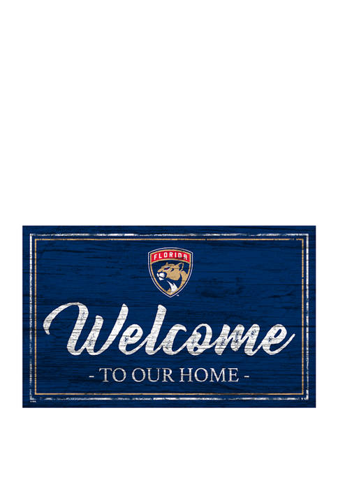 NHL Florida Panthers 11 in x 19 in Team Color Welcome Sign