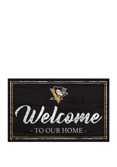 NHL Pittsburgh Penguins 11 in x 19 in Team Color Welcome Sign