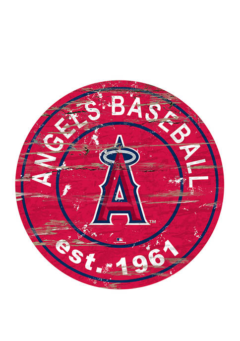 MLB Los Angeles Angels 24 Inch Established Date Round Sign