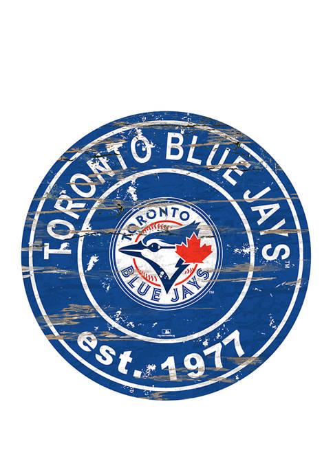 MLB Toronto Blue Jays 24 Inch Established Date Round Sign