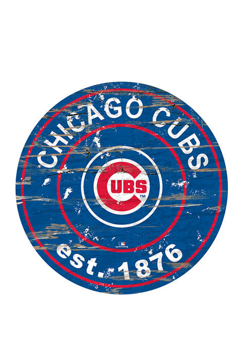MLB Chicago Cubs 24 Inch Est. Date Round Sign