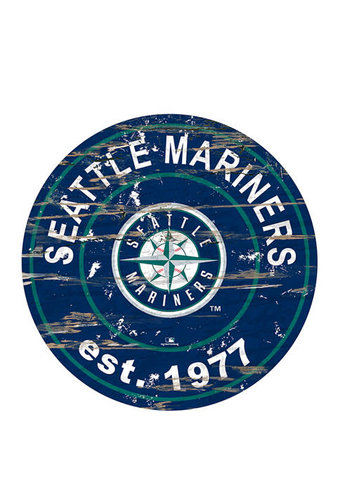 MLB Seattle Mariners 24 Inch Established Date Round Sign