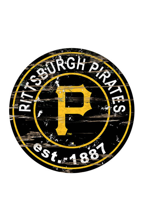 MLB Pittsburgh Pirates 24 Inch Established Date Round Sign