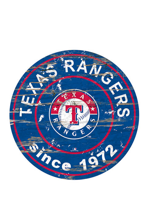 MLB Texas Rangers 24 Inch Established Date Round Sign