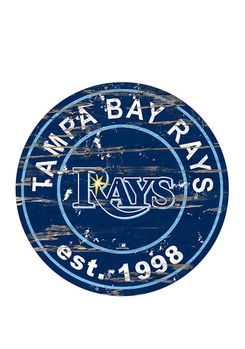 MLB Tampa Bay Rays 24 Inch Established Date Round Sign