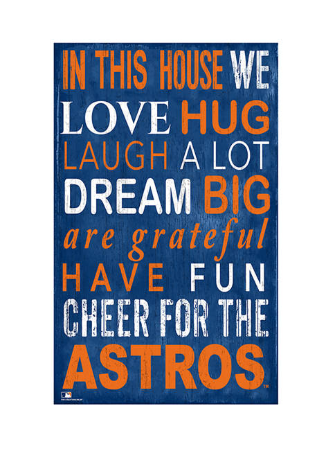 Fan Creations MLB Houston Astros In This House