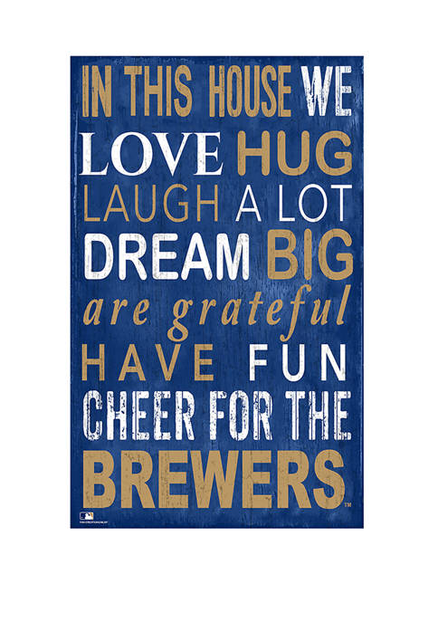 MLB Milwaukee Brewers In This House Sign