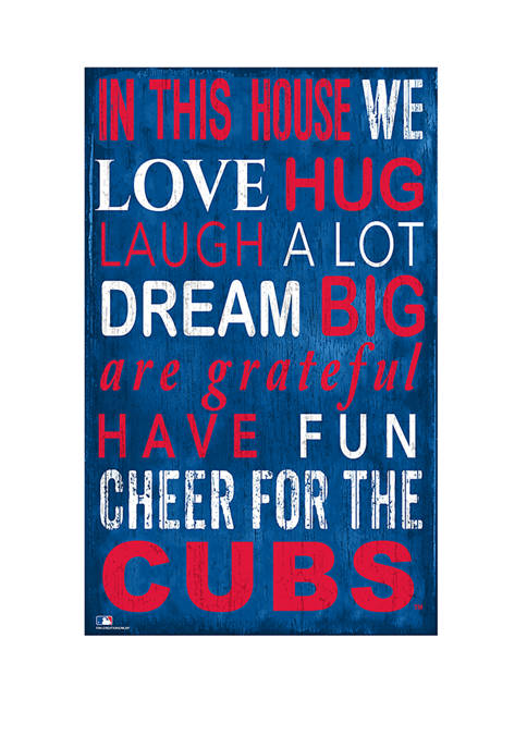 Fan Creations MLB Chicago Cubs In This House