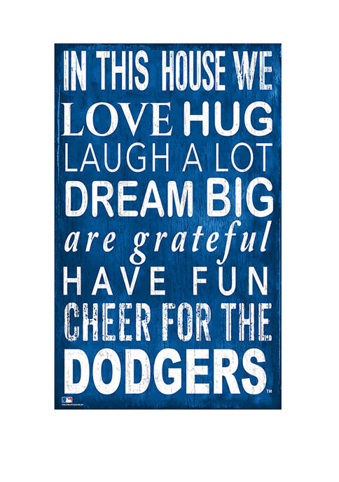 MLB Los Angeles Dodgers In This House Sign