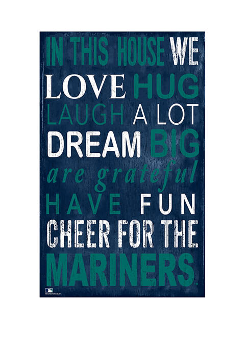 MLB Seattle Mariners In This House Sign