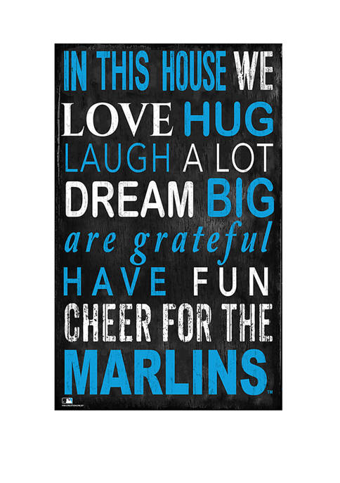 MLB Miami Marlins In This House Sign