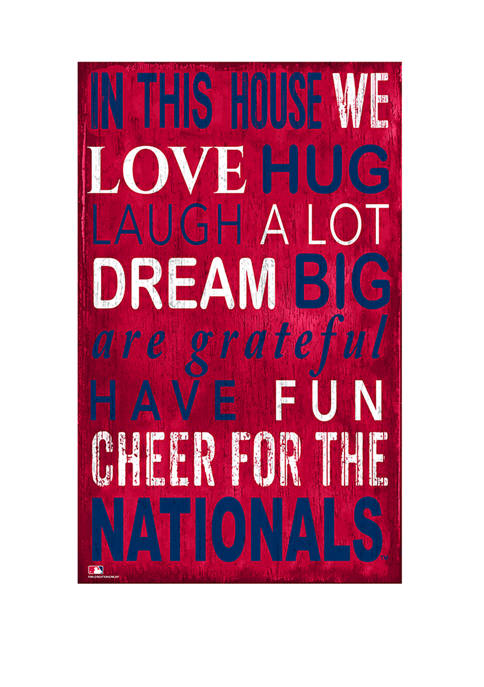 Fan Creations MLB Washington Nationals In This House