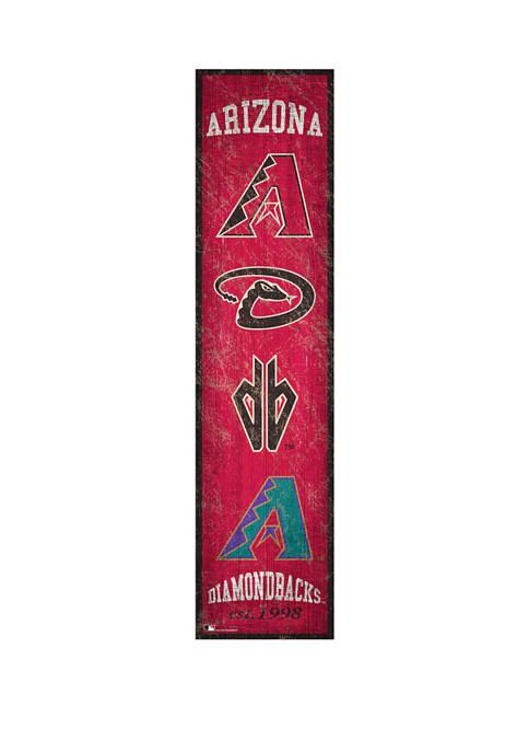 MLB Arizona Diamondbacks 6 in x 24 in Heritage Banner Sign