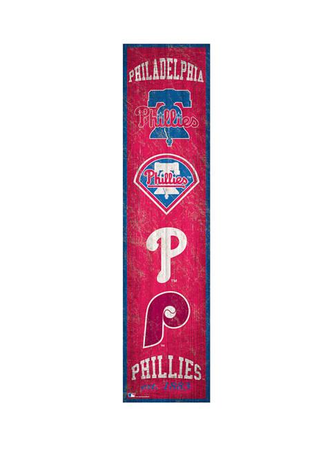 MLB Philadelphia Phillies 6 in x 24 in Heritage Banner Sign