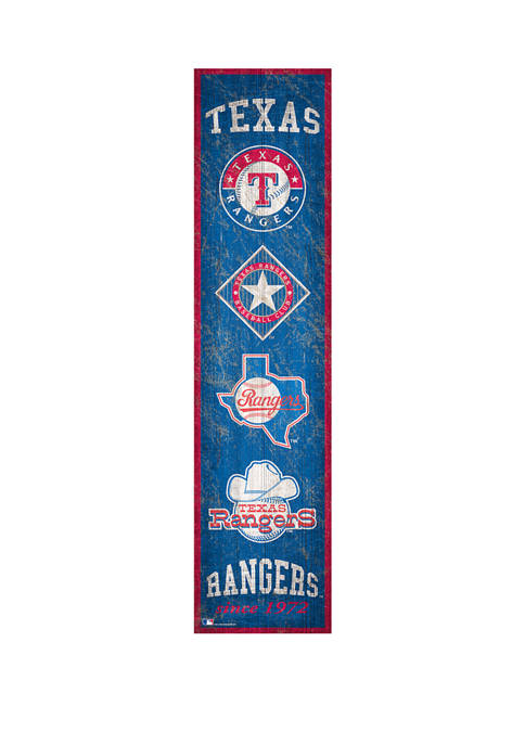 MLB Texas Rangers 6 in x 24 in Heritage Banner Sign