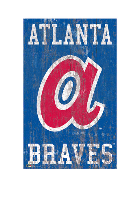 Fan Creations MLB Atlanta Braves 11 in x