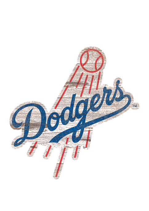 MLB Los Angeles Dodgers Distressed Logo Cutout Sign