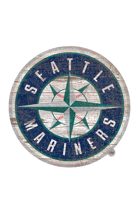 Fan Creations MLBSeattle Mariners Distressed Logo Cutout Sign