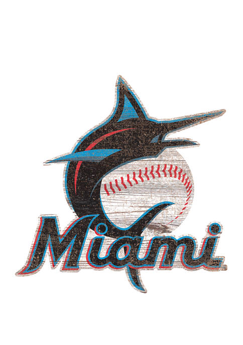 Fan Creations MLB Miami Marlins Distressed Logo Cutout