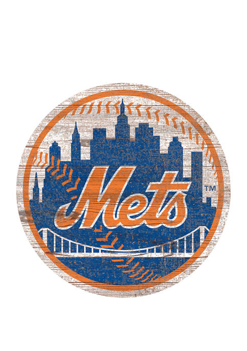 Fan Creations MLB New York Mets Distressed Logo