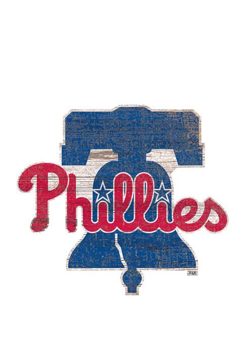 Fan Creations MLB Philadelphia Phillies Distressed Logo Cutout