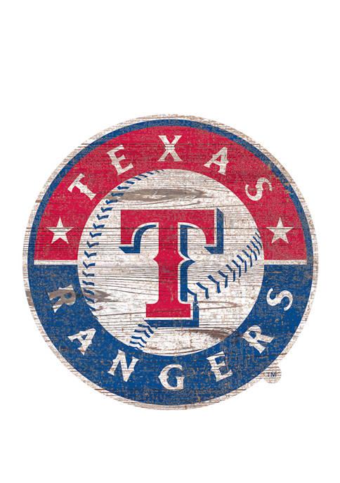 Fan Creations MLB Texas Rangers Distressed Logo Cutout