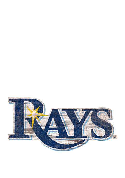 MLB Tampa Bay Rays Distressed Logo Cutout Sign
