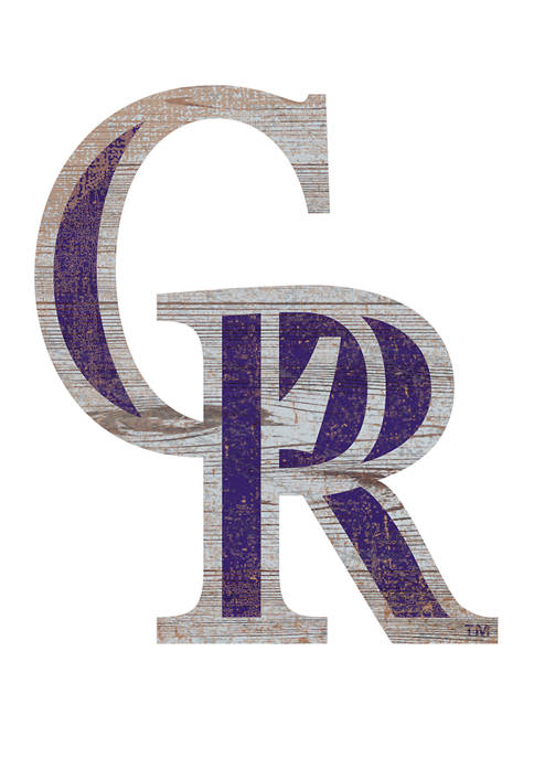 Fan Creations MLB Colorado Rockies Distressed Logo Cutout