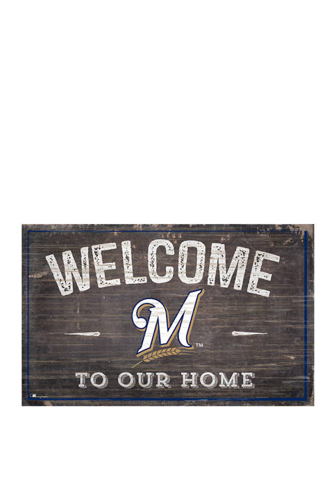 Fan Creations MLB Milwaukee Brewers 11x19 Welcome to
