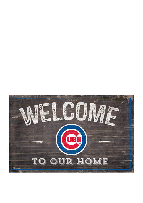 MLB Chicago Cubs 11 in x 19 in Welcome to our Home Sign