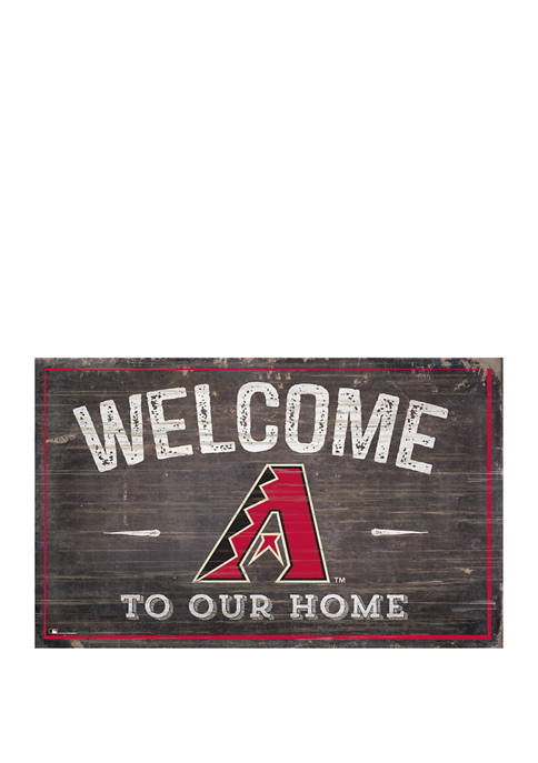 MLB Arizona Diamondbacks 11 in x 19 in Welcome to Our Home Sign