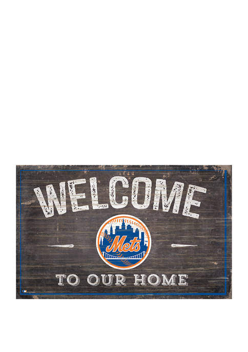 Fan Creations MLB New York Mets 11x19 Welcome
