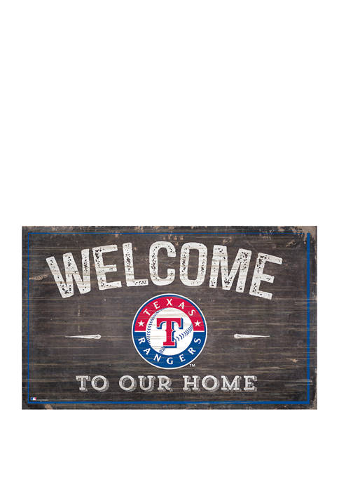 MLB Texas Rangers 11 in x 19 in Welcome to our Home Sign