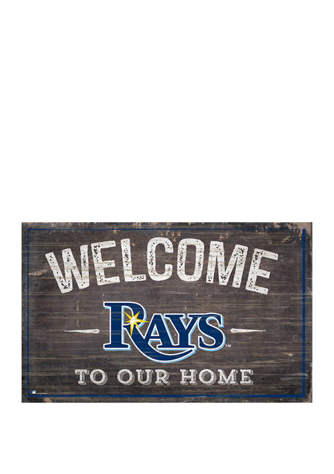 MLB Tampa Bay Rays 11 in x 19 in Welcome to our Home Sign