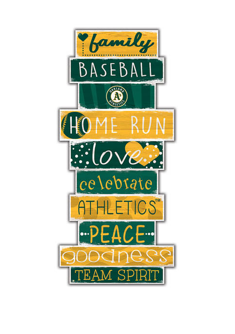 MLB Oakland Athletics Celebrations Stack 24 in x 10 in Sign