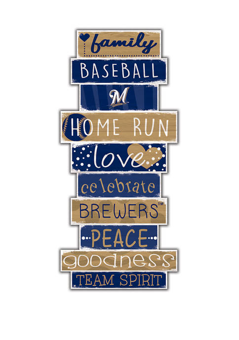 MLB Milwaukee Brewers Celebrations Stack 24 in 10 in Sign