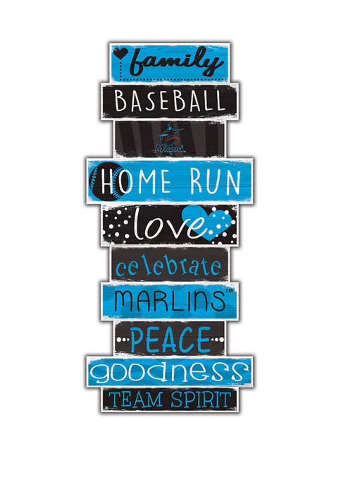 MLB Miami Marlins Celebrations Stack 24 in x 10 in Sign