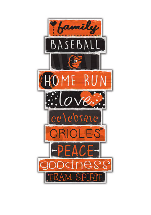 MLB Baltimore Orioles Celebrations Stack 24 in x 10 in Sign