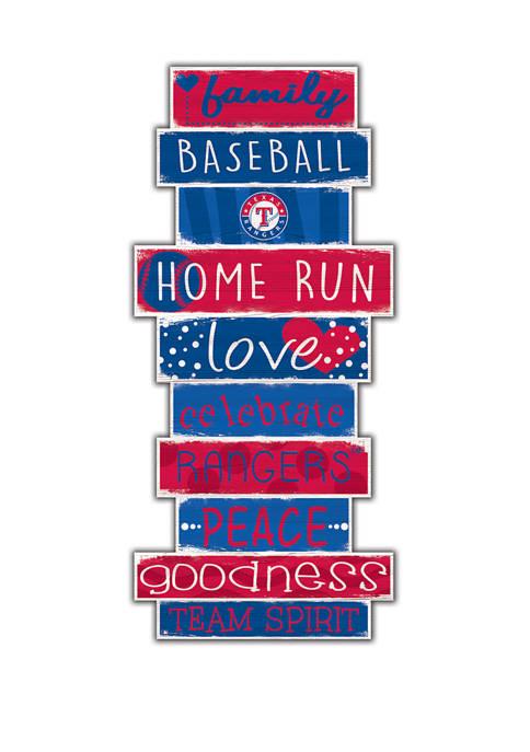 MLB Texas Rangers 24 Inch Celebration Stack Sign