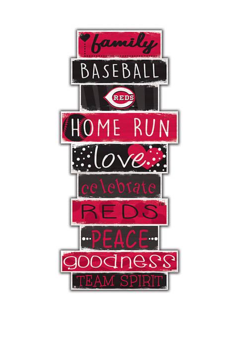 MLB Cincinnati Reds Celebrations Stack 24 in x 10 in Sign