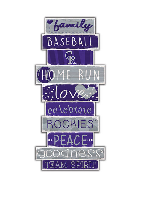 MLB Colorado Rockies Celebrations Stack 24 in x 10 in Sign
