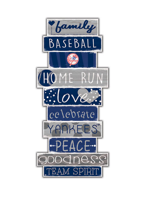 MLB New York Yankees Celebrations Stack 24 Inch Sign