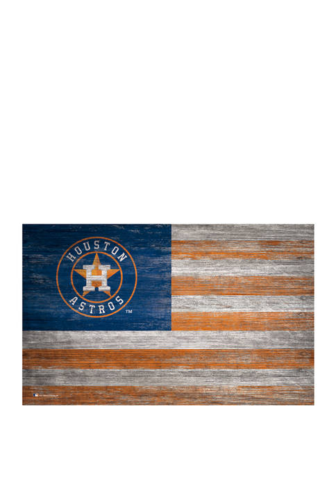 MLB Houston Astros 11 in x 19 in Distressed Flag