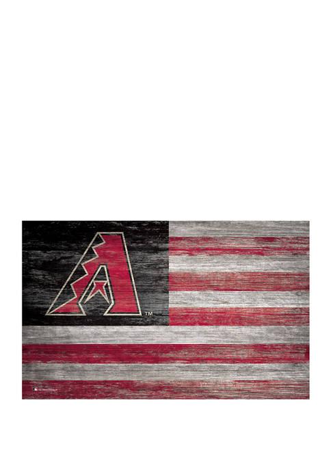 MLB Arizona Diamondbacks 11 in x 19 in Distressed Flag