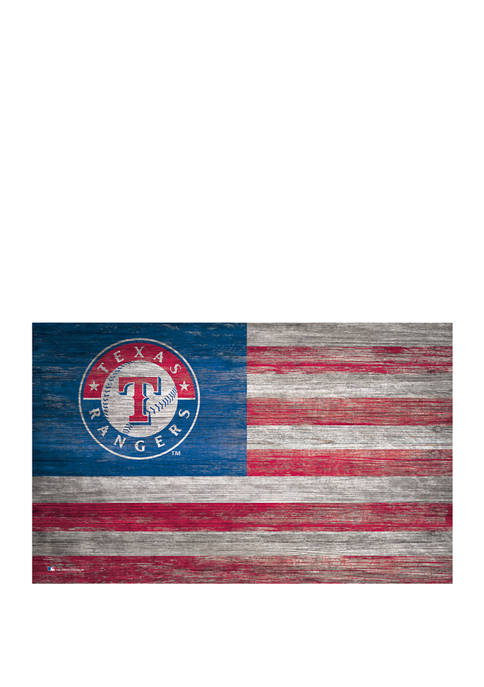 MLB Texas Rangers 11 in x 19 in Distressed Flag