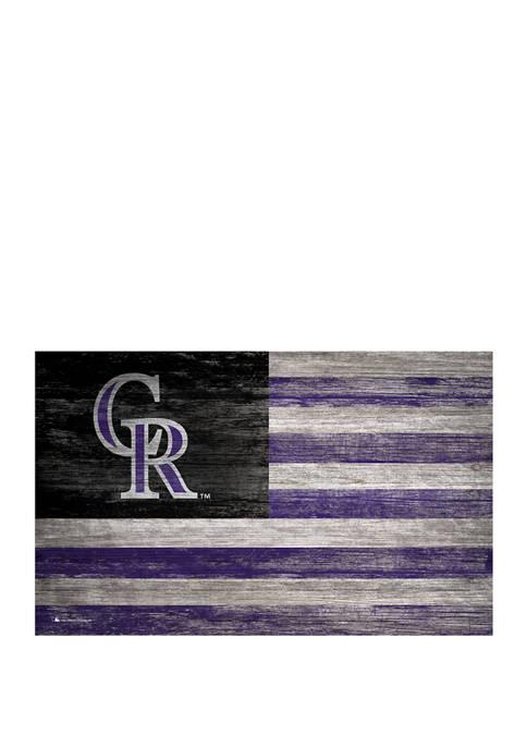 MLB Colorado Rockies 11 in x 19 in Distressed Flag